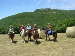 trek a cheval en toscane