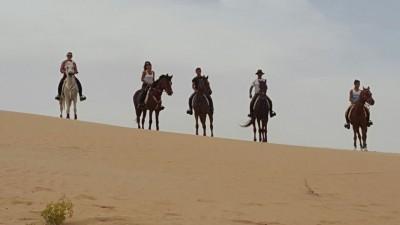 Rando à cheval Désert Abu Dhabi - Emirats Arabes Unis Voyage à cheval