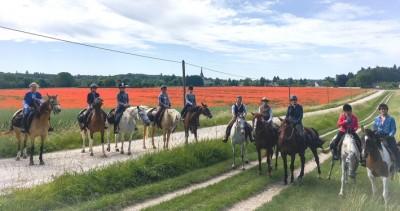 horse trail ride loire castles