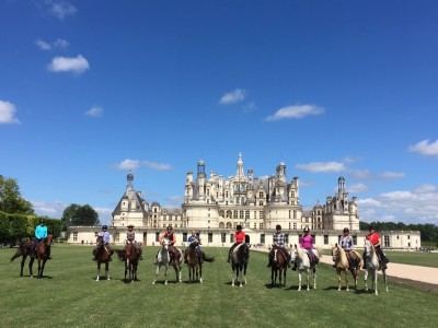 horseback ride loire castles