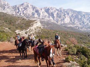 PROVENCE : LA MONTAGNE SAINTE-VICTOIRE DE CEZANNE SPECIALE TOUSSAINT - Randonnée Equestre, Voyage 4 jours à cheval