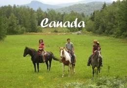 Randonnées à cheval au Canada