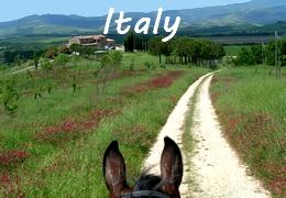 horseback riding trip in Italy