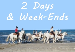 week-ends in Provence or Camargue, and 2 days rides in south of France