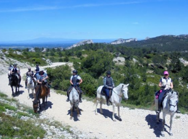 randonnee cheval Provence